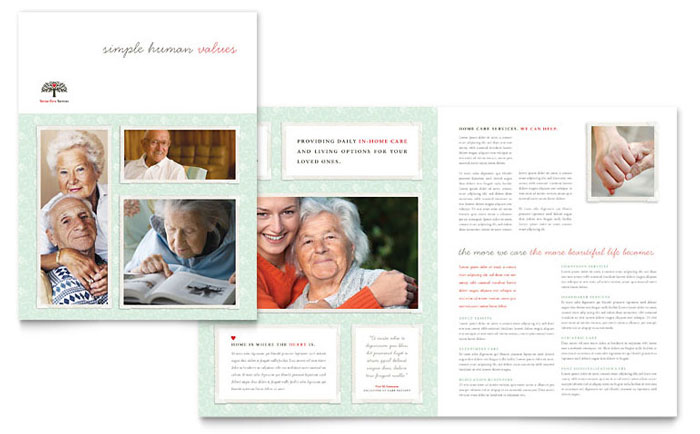 Senior Care Services Brochure Template Word Publisher - Home care brochure template