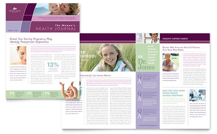 Women S Health Clinic Newsletter Template Word Amp Publisher