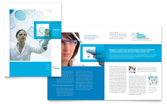 Science chemistry brochure template word publisher for 11x17 half fold brochure template