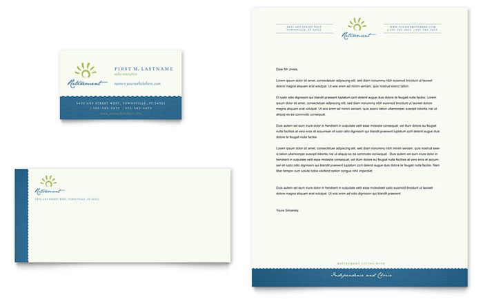 Senior Living Community Business Card Amp Letterhead