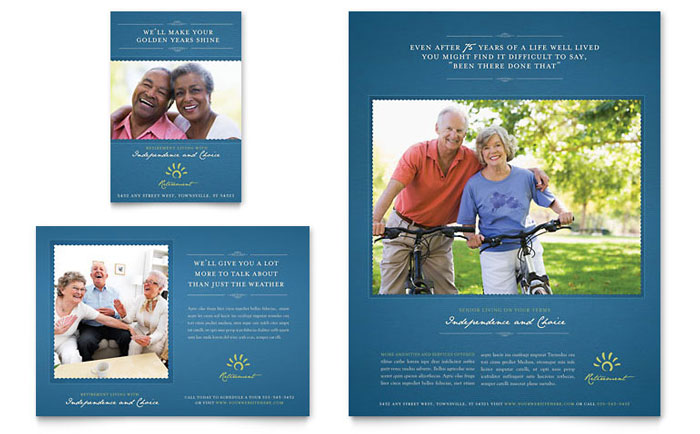 Senior Living Community Flyer & Ad Template - Word & Publisher