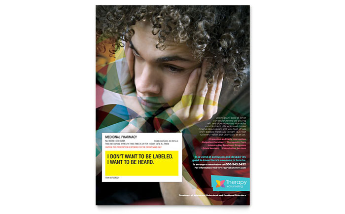 Adolescent Counseling Flyer Template - Word & Publisher