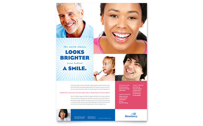 Family Dentistry Flyer Template - Word & Publisher