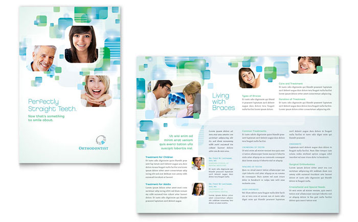 Orthodontist Brochure Template  Word  Publisher