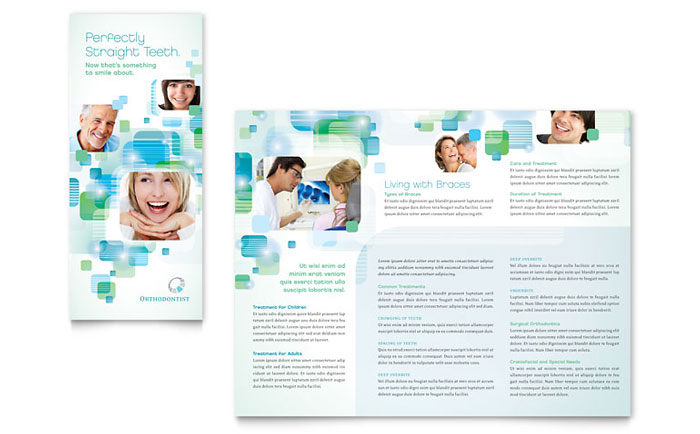 microsoft office tri fold brochure template - orthodontist tri fold brochure template word publisher