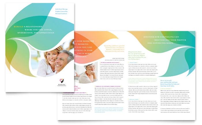 Marriage counseling brochure template word publisher for Pdf brochure templates