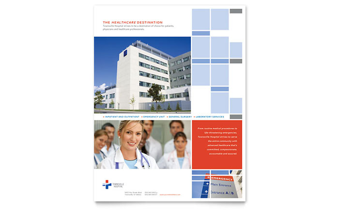 Hospital Flyer Template - Word & Publisher