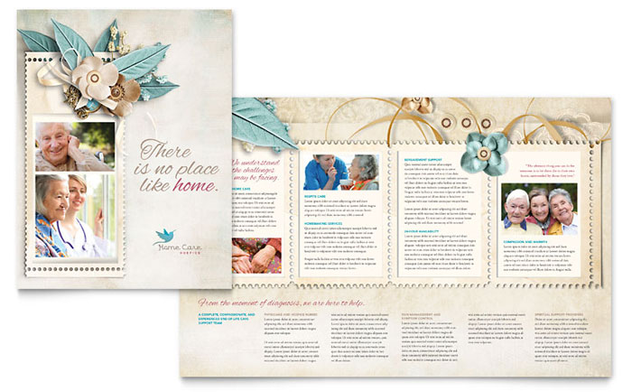 hospice  u0026 home care brochure template