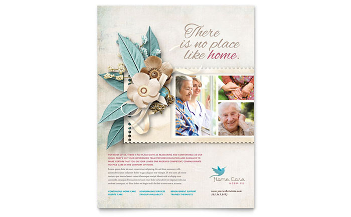 hospice  u0026 home care flyer template