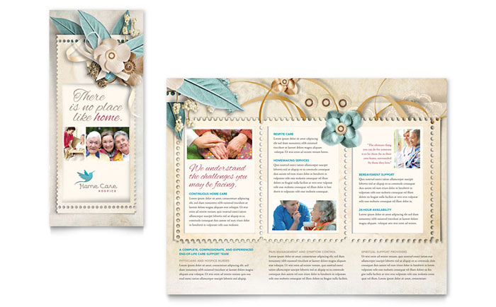 Hospice Home Care Tri Fold Brochure Template Word Publisher - Tri fold brochure template download