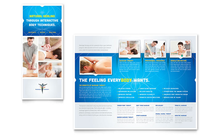 Reflexology  Massage Brochure Template  Word  Publisher