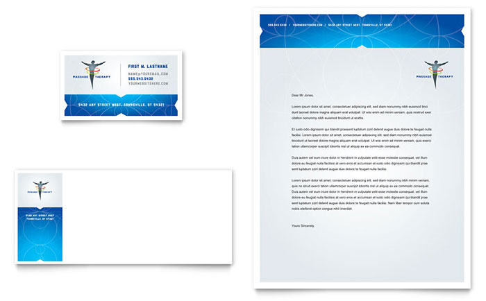 Reflexology & Massage Business Card & Letterhead Template - Word & Publisher