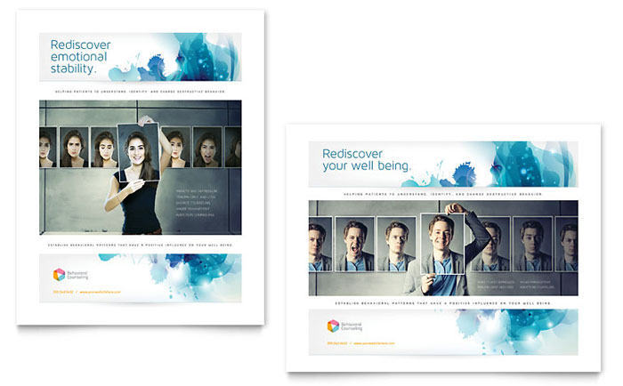 Behavioral Counseling Poster Template Download - Word & Publisher - Microsoft Office