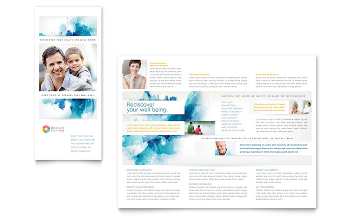behavioral counseling tri fold brochure template
