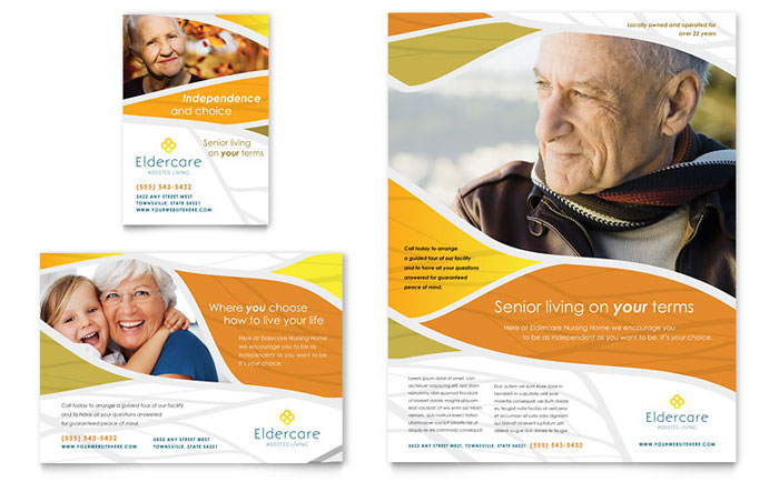 assisted living flyer  u0026 ad template