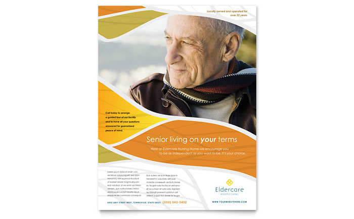 Assisted Living Flyer Template - Word & Publisher