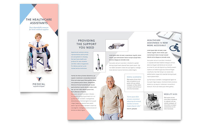medical brochure templates - disability medical equipment brochure template word