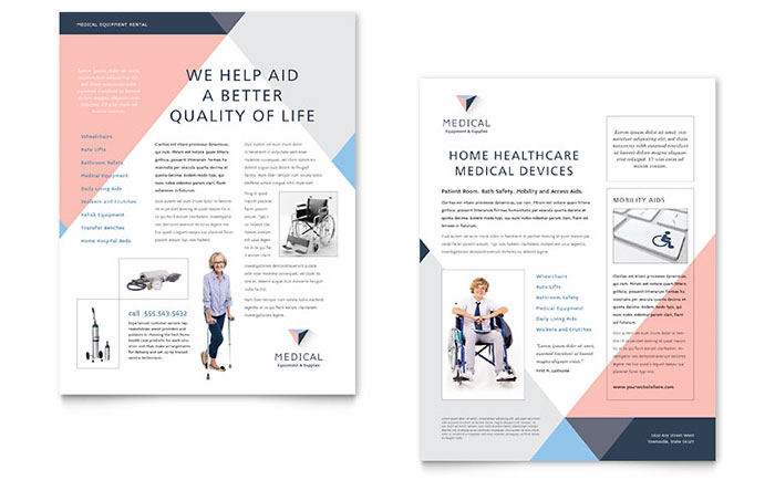 Disability Medical Equipment Datasheet Template - Word & Publisher