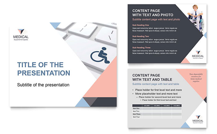 disability medical equipment powerpoint presentation - powerpoint, Modern powerpoint