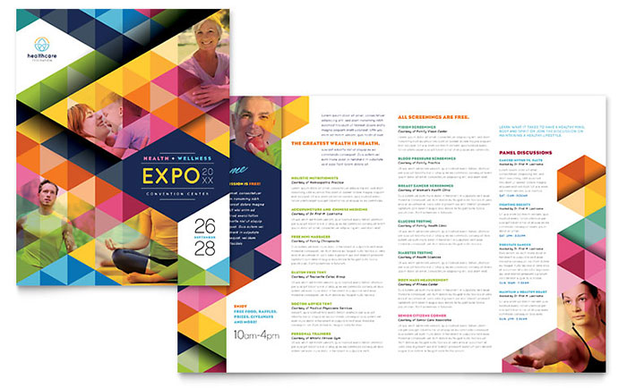 Health fair brochure template word publisher maxwellsz
