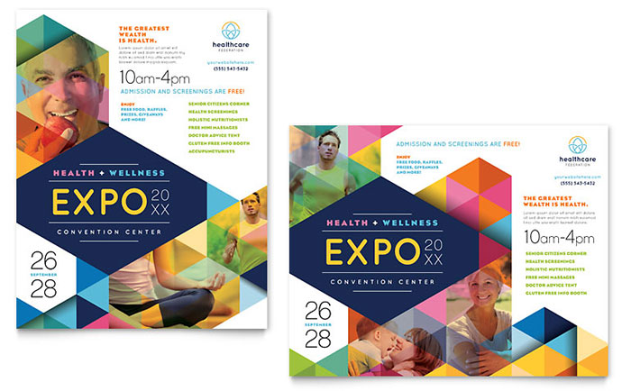 Health Fair Poster Template Download - Word & Publisher - Microsoft Office