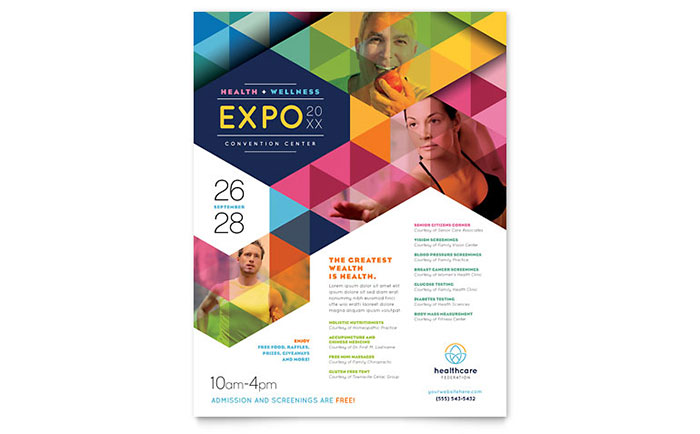Health Fair Flyer Template Word Publisher – Free Template for Flyers Microsoft Word