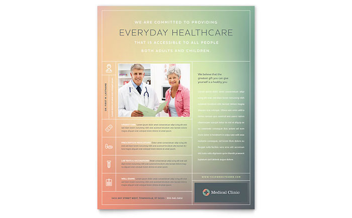 Medical Clinic Flyer Template - Word & Publisher