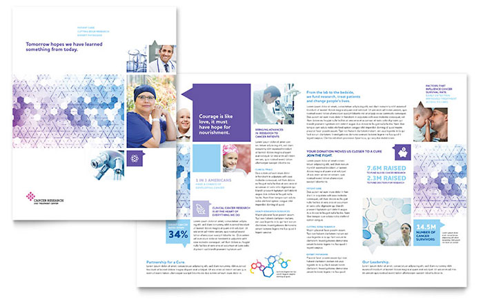 Cancer Treatment Brochure Template - Word & Publisher