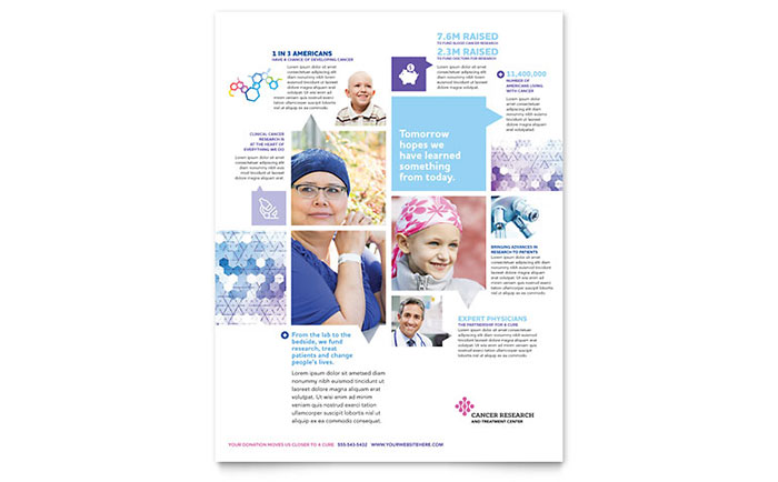 Cancer Treatment Flyer Template  Word  Publisher