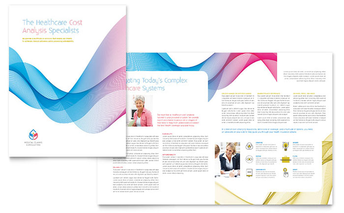 Insurance Consulting Brochure Template Word Publisher - Half fold brochure template free