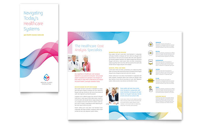 insurance consulting tri fold brochure template word publisher