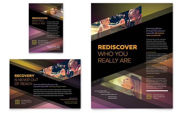 Rehab Center Flyer & Ad Template - Word & Publisher