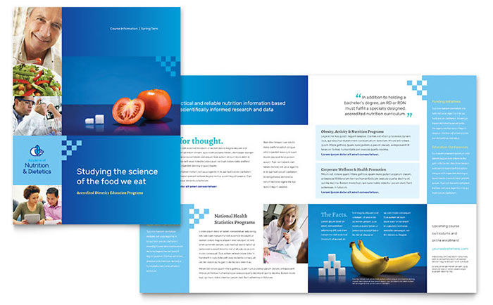 Dietitian Brochure Template  Word  Publisher
