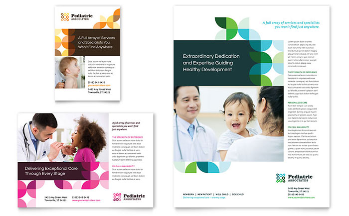 Pediatric Doctor Flyer & Ad Template Download - Word & Publisher - Microsoft Office