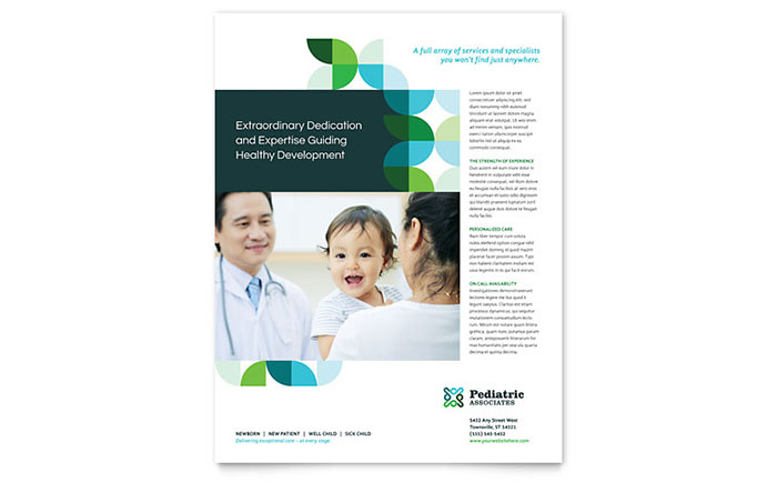 Pediatric Doctor Flyer Template - Word & Publisher