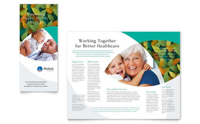 Medical Health Care Brochures Flyers Word Publisher Templates - Home care brochure template