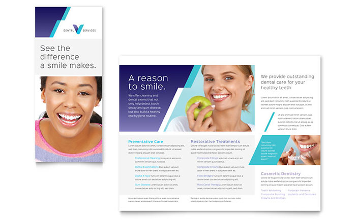 Dentist Brochure Template - Word & Publisher