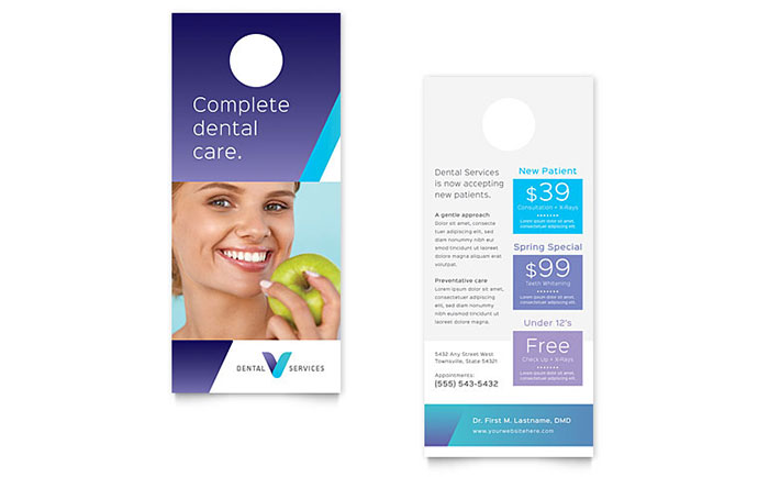 Dentist Rack Card Template - Word & Publisher