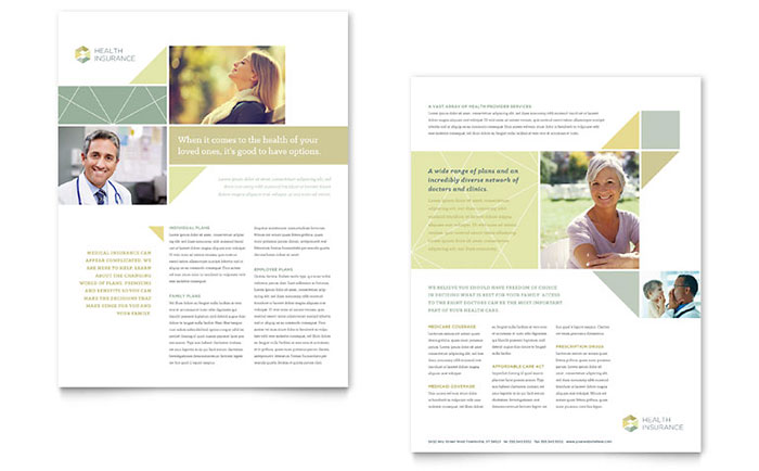 Health Insurance Datasheet Template - Word & Publisher