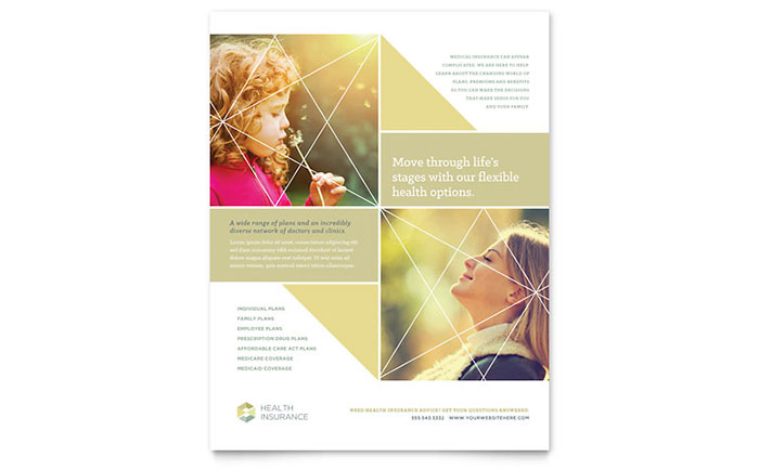 E L Wedding Insurance: Health Insurance Flyer Template