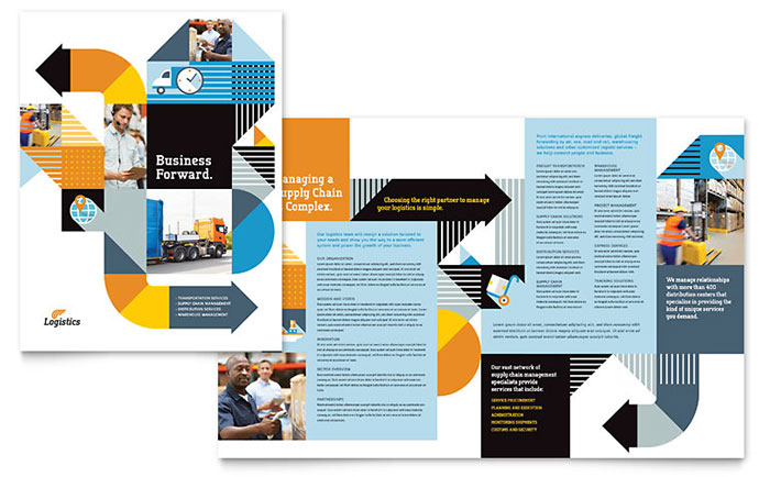 Logistics & Warehousing Brochure Template - Word & Publisher