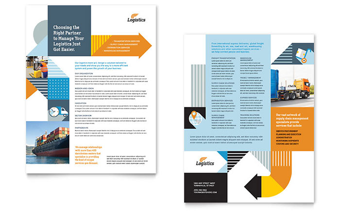 Logistics & Warehousing Datasheet Template - Word & Publisher