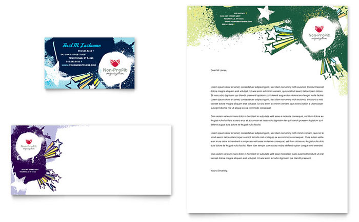 Child Advocates Business Card Letterhead Template Word Publisher - Ms word business card templates free download