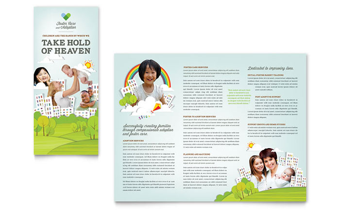 Foster Care Adoption Brochure Template Word Publisher - Daycare brochure template