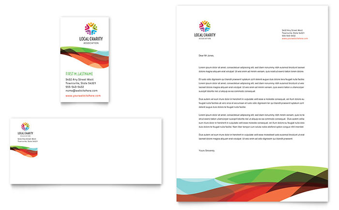 Charity Golf Event Business Card & Letterhead Template - Word & Publisher