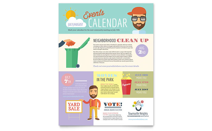 Homeowners association flyer template word publisher for Non profit charter template