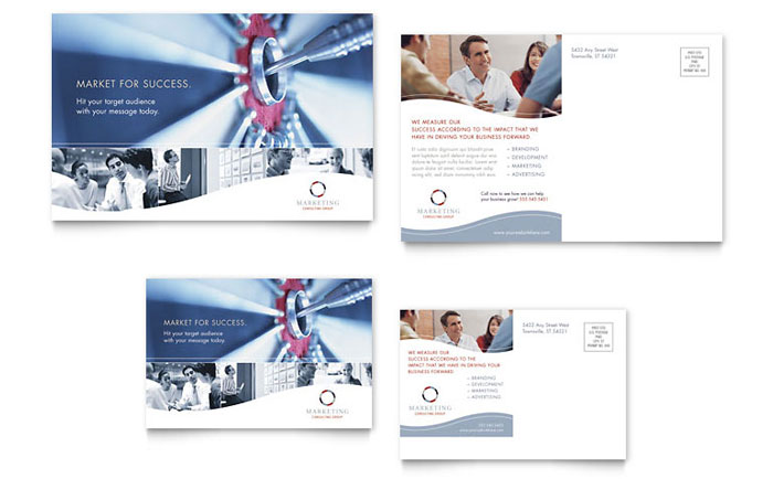Marketing Consulting Group Postcard Template - Word & Publisher