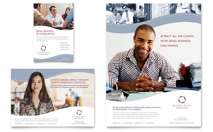 Marketing Consulting Group Flyer & Ad Template - Word & Publisher