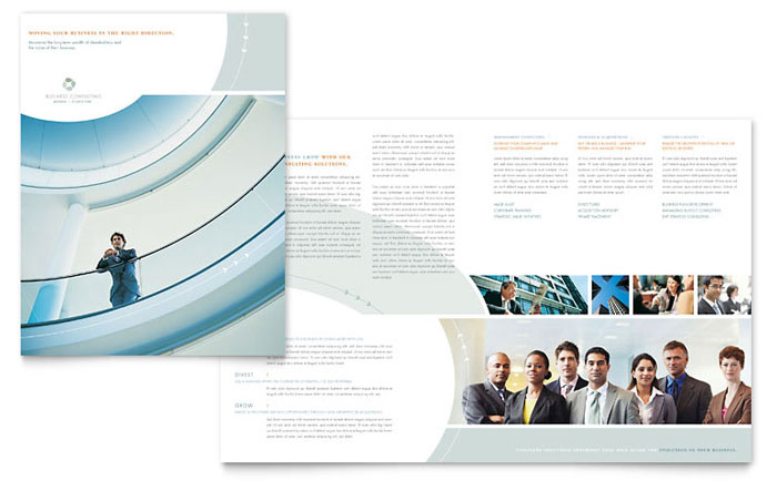 Business consulting brochure template word publisher wajeb Gallery