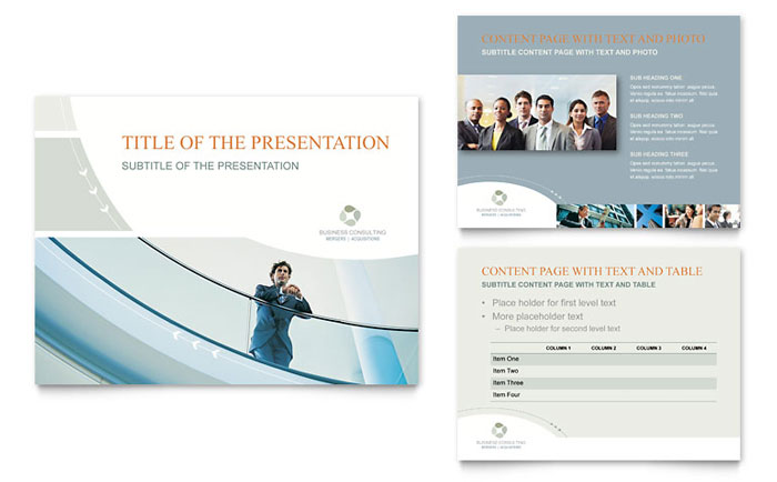 business consulting powerpoint presentation - powerpoint template, Powerpoint templates